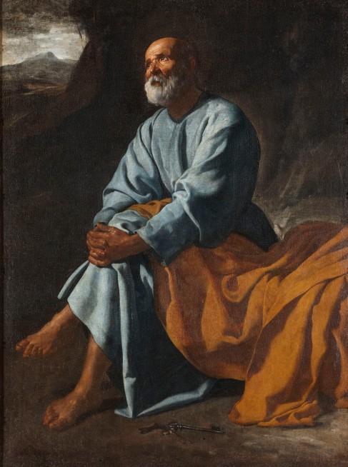 Las lágrimas de San Pedro. H. 1620. Diego Velázquez. Fondo Cultural Villar Mir