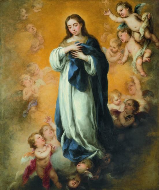 Inmaculada Concepción. H. 1670. Bartolomé Esteban Murillo. Nelson Atkins Museum