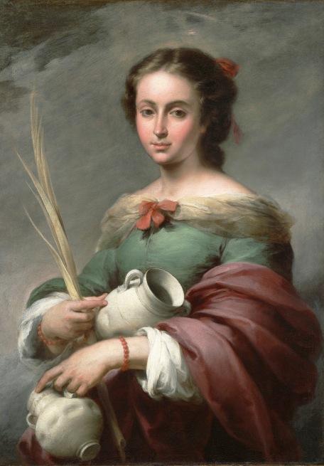 Santa Rufina. H. 1665. Bartolomé Esteban Murillo. Meadows Museum