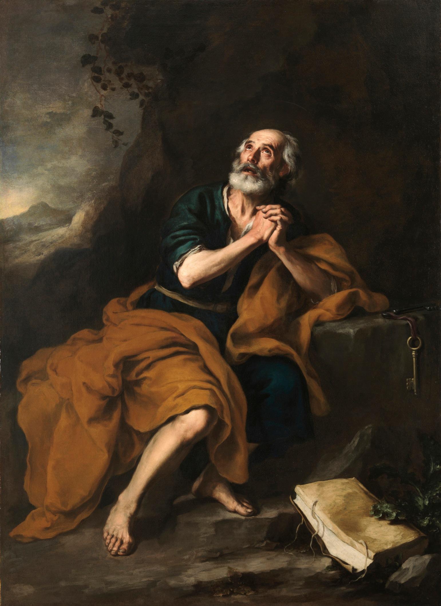 San Pedro penitente. 1665-1670. Bartolomé Esteban Murillo. Fundación Fondo de Cultura de Sevilla (Focus)